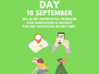 World CleanUp Day op zaterdag 18 september!